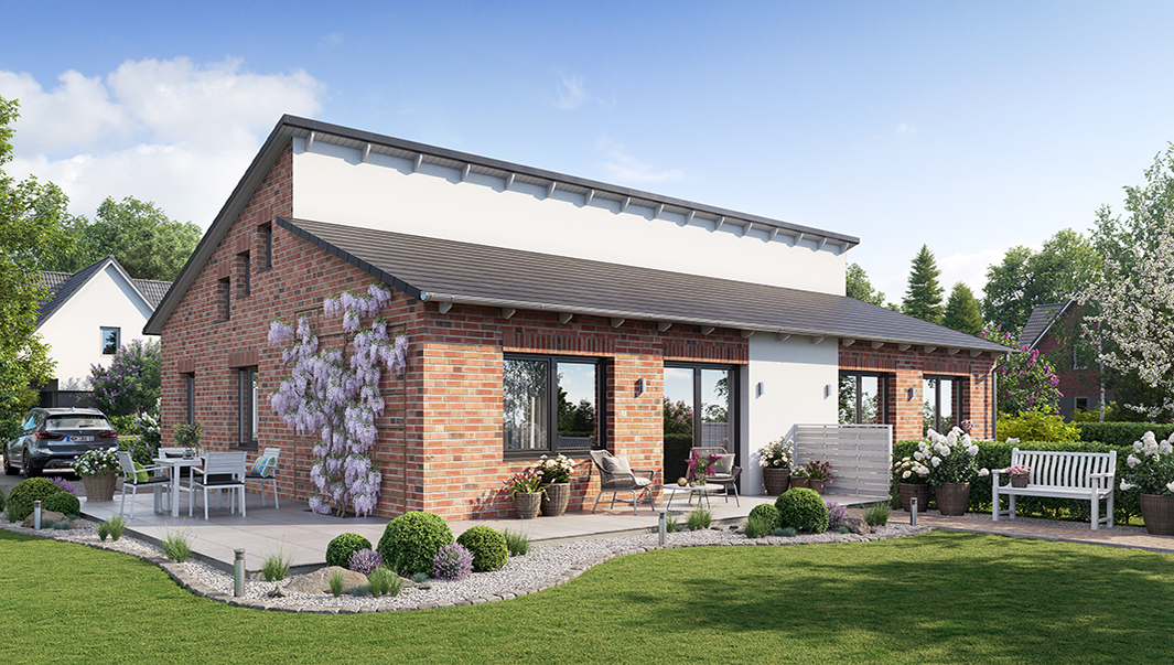3D Architekturvisualisierung - Bungalow Duo